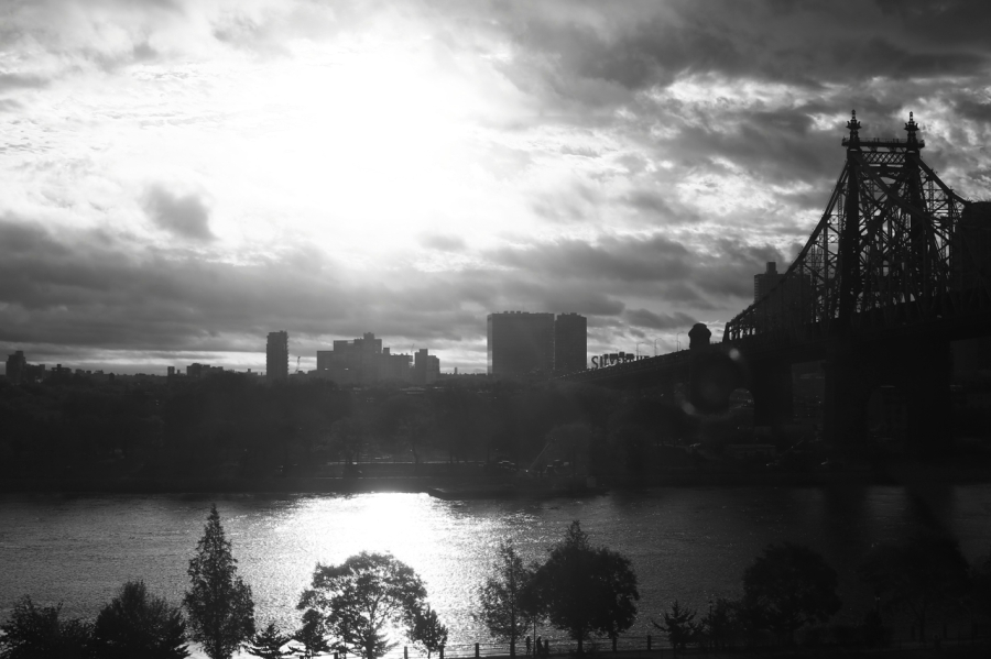 black and white photos of new york sunrise, zeiss 50mm f1.4 lens