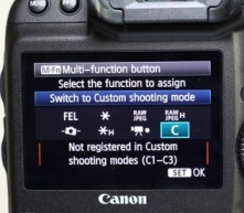 Canon 1dx M.Fn button customization